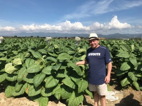 Tom in the LFD fields near Santiago, Dominican Republic.